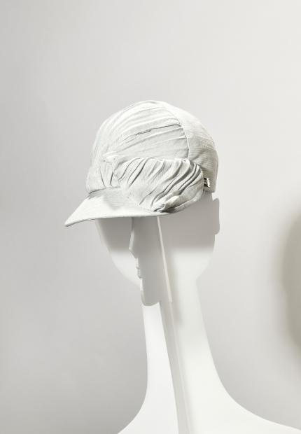 Stephen Jones Millinery Spring Summer 2020 a pleated baseball cap