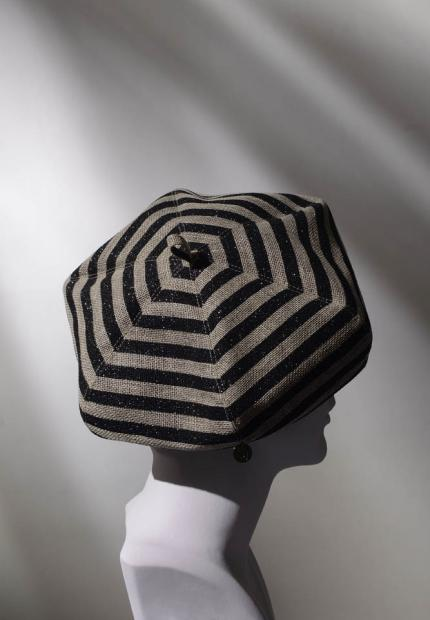 Stephen Jones Spring Summer 2017 Shade collection glitter stripped oversized beret
