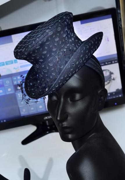 Stephen Jones Millinery Spring Summer 2018 Hats London denim Top Hat