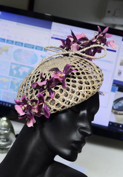 Stephen Jones Millinery Spring Summer 2018 Hats Rangoon orchid beret