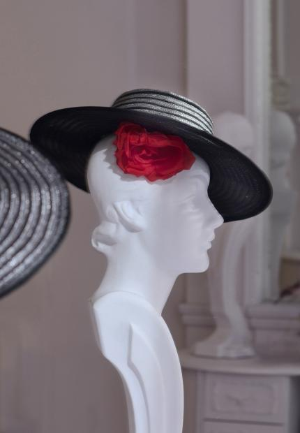 Stephen Jones Millinery Spring Summer 2018 Hats Chic stitched sombrero with flower