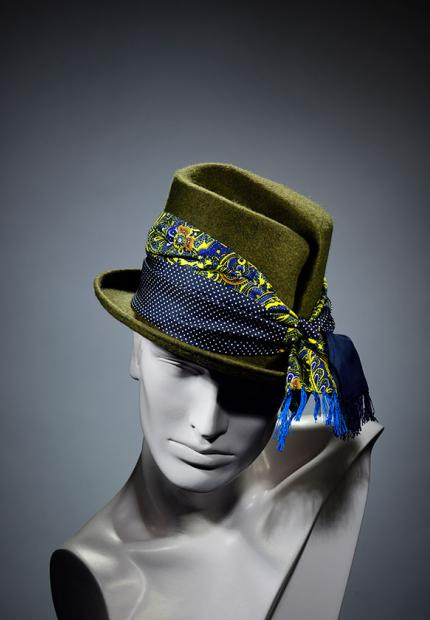 Stephen Jones Millinery Winter mens top hat Jean Paul Gualtier