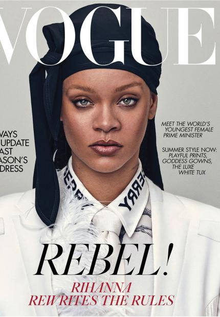 Stephen jones Rihanna vogue durag